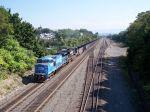 Hopper train climbing the Slope
